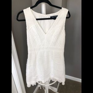 French connection white mini dress!
